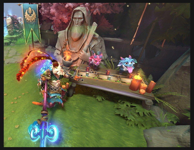 Tables from Artifact appeared In Dota 2